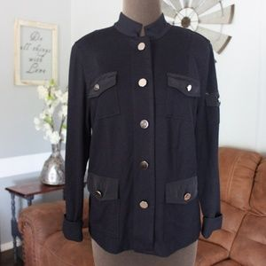 TanJay Navy Blue Jacket Size Petite Small